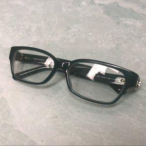 Tory Burch hunter green prescription glasses